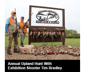 Annual Upland Hunt With Exhibition Shooter Tim Bradley